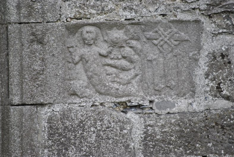 Mermaid carving at  Clonfert Cathedral, Co. Galway | Antaine Ó Deargáin