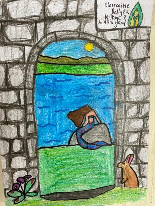 Mermaid of Killone Lake  | Ailbhe Griffin, 5th Class, Ballyea N.S.