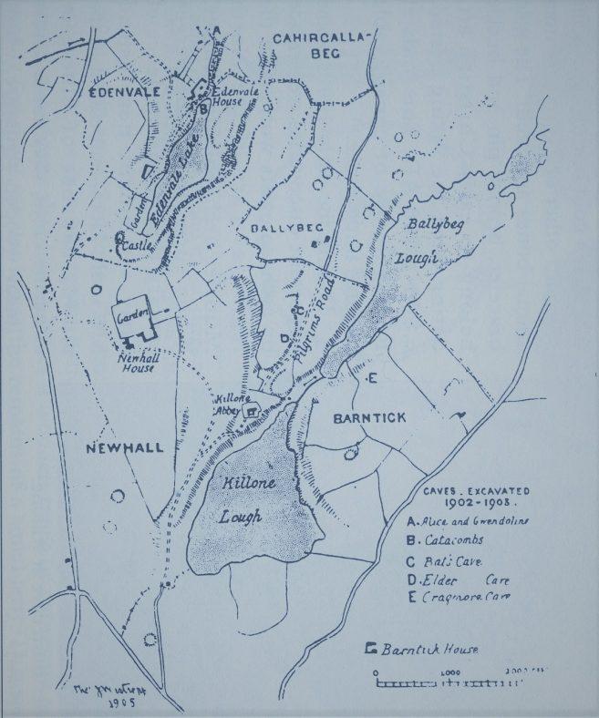 Pilgrim's Road Map 1890   T. J. Westropp