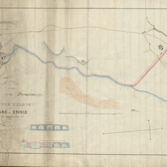 Plan for the improvement of the River Fergus  | With permission: archive.waterwaysireland.org