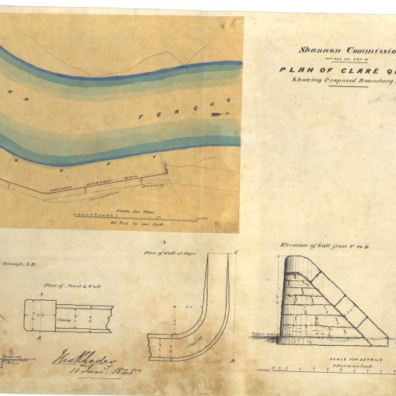 Plan of Clare quay river Fergus | With permission: archive.waterwaysireland.org