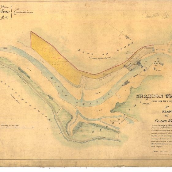 Plan of Clare wharf River Fergus | With permission: archive.waterwaysireland.org