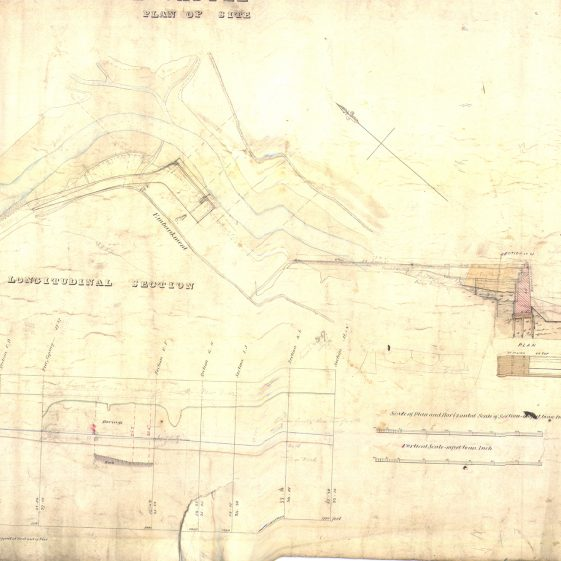 Plan of pier site at Clare Castle e | With permission: archive.waterwaysireland.org