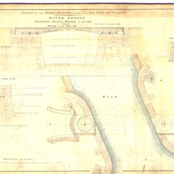 Proposed swivel bridge at Clare_ | With permission: archive.waterwaysireland.org